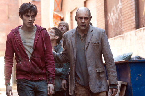 """This film image released by Summit Entertainment shows Rob Corddry, right, and Nicholas Hoult in a scene from """"Warm Bodies."""" (AP Photo/Summit Entertainment, Jonathan Wenk)"""