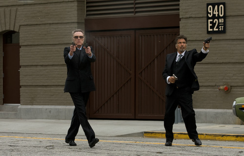 """This film image released by Roadside Attractions shows, Christopher Walken as Doc, left, and Al Pacino as Val, in a scene from """"Stand Up Guys."""" (AP Photo/Roadside Attractions, Saeed Adyani)"""