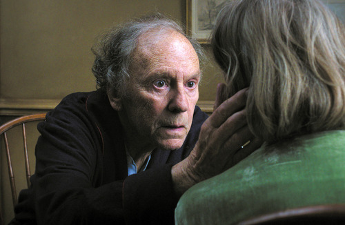 """This film image released by Sony Pictures Classics shows Jean-Louis Trintignant in a scene from the Austrian film, """"Amour."""" (AP Photo/Sony Pictures Classics, File)"""