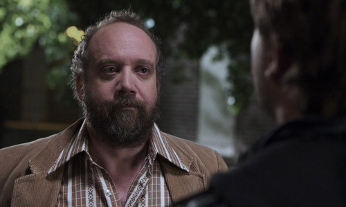 "Paul Giamatti plays Arnie, a journalist who doesn't buy the story being told by David (Chase Williamson) in the horror/science-fiction mash-up ""John Dies at the End."""