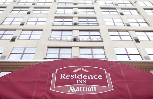 A Marriott Residence Inn stands in Washington, D.C., U.S. on Wednesday, July 14, 2010. Andrew Harrer/Bloomberg