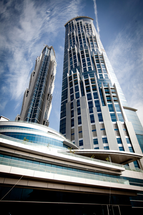 The JW Marriott Marquis Dubai hotel is seen in this handout photo taken in Dubai, United Arab Emirates, on Wednesday, Feb. 8, 2012, and released to the media on Tuesday, May 1, 2012. Joanne Cole/Ugly Duckling Photography via Bloomberg