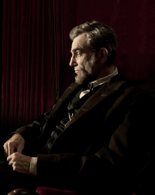 """FILE - This publicity film image released by DreamWorks and Twentieth Century Fox shows Daniel Day-Lewis portraying Abraham Lincoln in the film """"Lincoln.""""  Best-picture prospects for Oscar Nominations on Thursday, Jan. 10, 2013, include, """"Lincoln,"""" directed by Steven Spielber.  (AP Photo/DreamWorks, Twentieth Century Fox, David James, file)"""