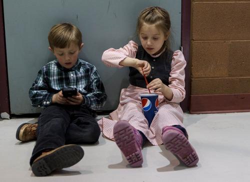 Trent Nelson  |  The Salt Lake Tribune Mason Jessop and Debbie Jessop at El Capitan School, Sunday, February 17, 2013 in Colorado City.