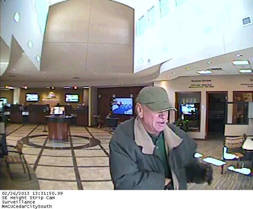 Cedar City police asking for public's help locating this suspected bank robber. Courtesy Cedar City Police Department