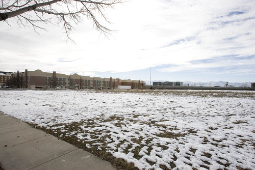 Paul Fraughton      Salt Lake Tribune  The 11.5-acre site west of the Sandy City Hall and east of the I-15 freeway will be the future home of The Hale Center Theatre and other state-of-the-art performing spaces.  Monday, February 25, 2013