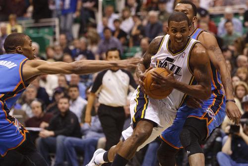 Trent Nelson  |  The Salt Lake Tribune Utah Jazz guard Raja Bell.