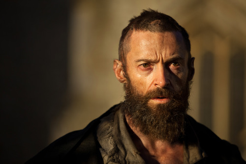 """This film image released by Universal Pictures shows Hugh Jackman as Jean Valjean in a scene from """"Les Miserables."""" (AP Photo/Universal Pictures, Laurie Sparham)"""