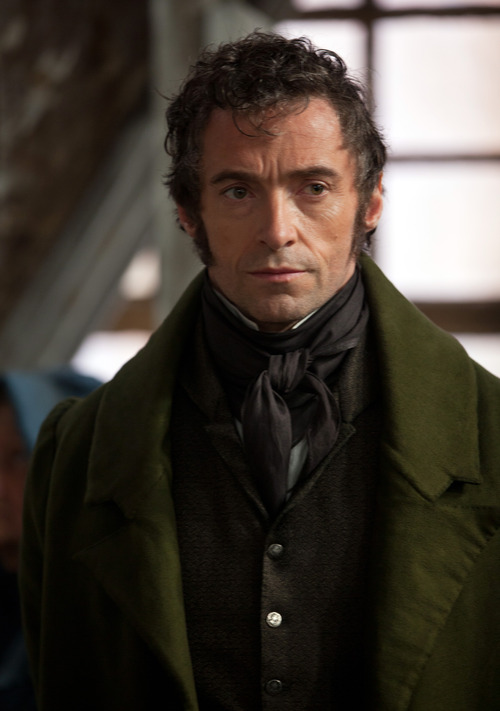 """This image released by Universal Pictures shows Hugh Jackman as Jean Valjean in a scene from """"Les Misérables.""""  The costumes for the film were designed by Spanish designer Paco Delgado. (AP Photo/Universal Pictures, Laurie Sparham)"""