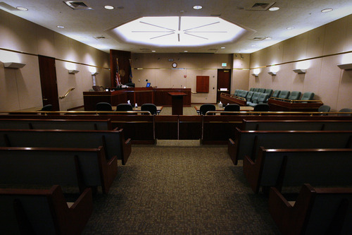 Rick Egan  | The Salt Lake Tribune   The 8th District courtroom in Vernal, Thursday, January 31, 2013. The juvenile court in Uintah, Duchesne, and Daggett counties is operating at more than 190 percent of what the appropriate case load should be.