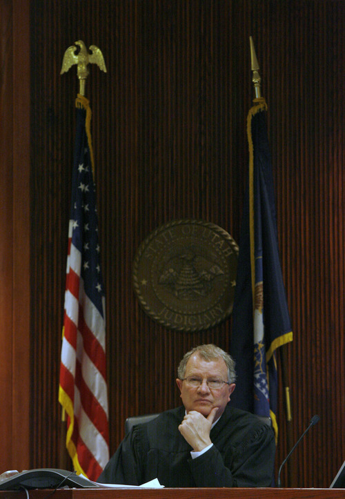 Rick Egan  | The Salt Lake Tribune   Judge Larry A. Steele presides in the juvenile court room in Vernal, Thursday, January 31, 2013. The juvenile court in Uintah, Duchesne, and Daggett counties is operating at more than 190 percent of what the appropriate case load should be.