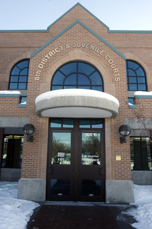 Rick Egan  | The Salt Lake Tribune   The 8th District Courthouse in Vernal, Thursday, January 31, 2013. The juvenile court in Uintah, Duchesne, and Daggett counties is operating at more than 190 percent of what the appropriate case load should be.