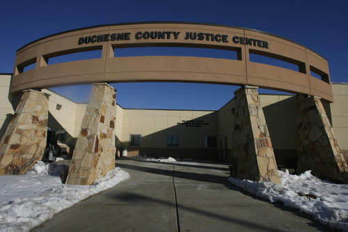 Rick Egan  | The Salt Lake Tribune   The Duchesne County Justice Center, Thursday, January 31, 2013. The juvenile court in Uintah, Duchesne, and Daggett counties is operating at more than 190 percent of what the appropriate case load should be.