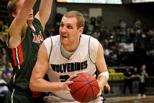 Courtesy Shane Truskolaski  |  UVU Athletics Ben Aird is averaging 14.2 points per game for Utah Valley.