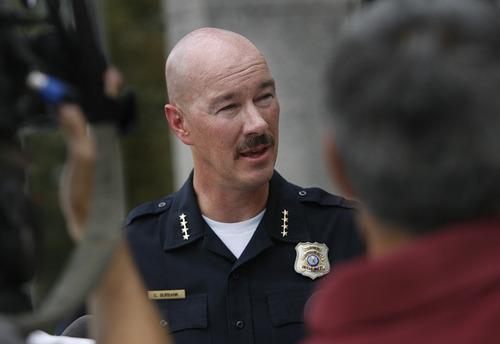 Scott Sommerdorf  |  The Salt Lake Tribune              Salt Lake Police Chief Chris Burbank