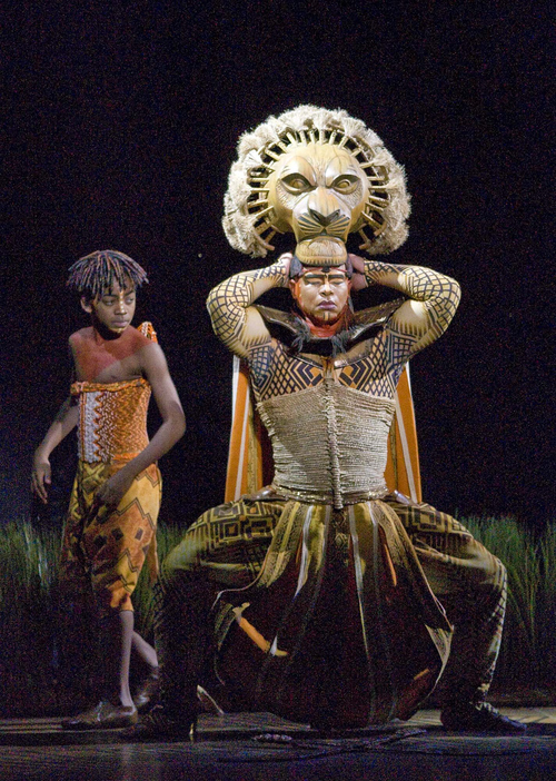 Paul Fraughton  |  The Salt Lake Tribune  Jerome Stephens Jr. as Young Simba and Dionne Randolph as Mufasa in The Lion King playing at Salt Lake City's Capitol Theater.Salt Lake City  Friday, August 13, 2010