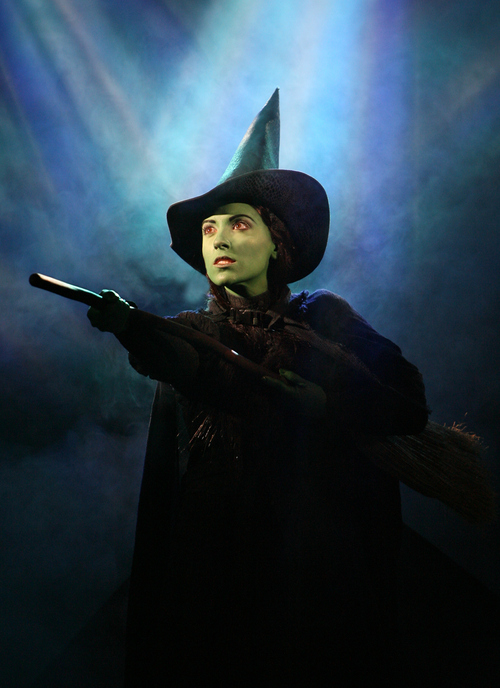 Actor Donna Vivino performs as Elphaba in Wicked, The Musical.