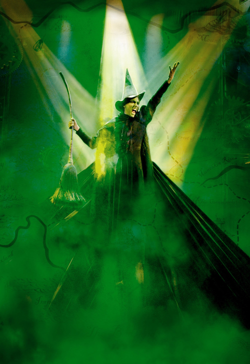 """Wicked"" April 8 - May 3 Capitol Theatre (photo by Joan Marcus) publicity photo for the Broadway Across America series"