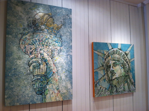 Sean P. Means  |  The Salt Lake Tribune Two works by Jimmi Toro are on display at the Urban Arts Gallery, which has taken over a former clothing store in The Gateway in downtown Salt Lake City.