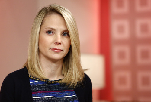 """This image released by NBC shows Yahoo CEO Marissa Mayer appearing on NBC News' """"Today"""" show, Wednesday, Feb. 20, 2013 in New York to introduce the website's redesign. Mayer recently made the highly unpopular decision of requiring all Yahoo! employees to come into the office to work instead of telecommuting from home. (AP Photo/NBC Peter Kramer/NBC/NBC NewsWire)"""