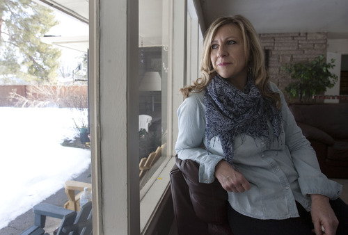 Steve Griffin | The Salt Lake Tribune Carolyn Tuft, at her home in Salt Lake City Feb. 22, was injured in the 2007 Trolley Square shooting and has to take medication to control debilitating pain. Her daughter, Kirsten Hinckley, was killed in the rampage.