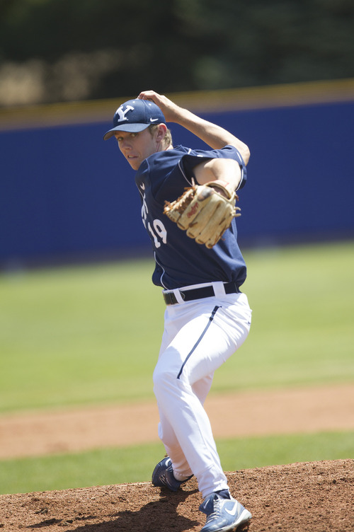 Courtesy of BYU Desmond Poulson has struck out 18 batters over 22 innings to start this season.