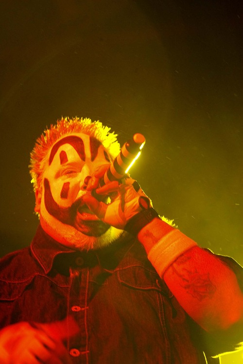 Trent Nelson  |  The Salt Lake Tribune Violent J, of Insane Clown Posse, performs at The Great Saltair on Oct. 1, 2009.