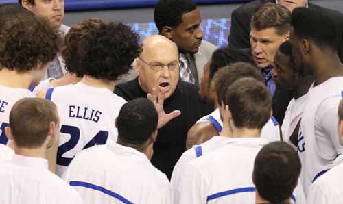 The late Rick Majerus knew his 2012-13 Saint Louis University team would be special long before anyone else did. Now, following their coach's death, the Billikens are proving him correct.   St. Louis Post-Dispatch photo.