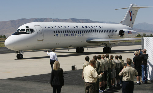 Francisco Kjolseth     Tribune file photo A DC-9 carrying Republican vice presidential nominee Paul Ryan arrives at the Provo Municipal Airport on Wednesday, Sept. 5, 2012. The Federal Aviation Administration recently issued a list of 173 small- and medium-sized airports that will face control closures because of forced spending cuts. Ogden and Provo are the only Utah airports on the list.