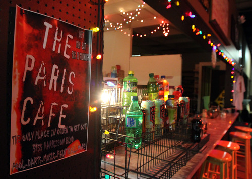 Rick Egan  | The Salt Lake Tribune  The Paris Cafe is empty on a recent Saturday night, because live music is not allowed in the Ogden strip mall on Harrison Blvd.