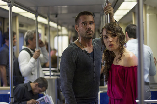"Colin Farrell (left) and Noomi Rapace star in the revenge thriller ""Dead Man Down."" Courtesy John Baer  