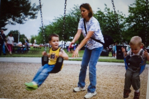 In this undated photo, Susan Powell plays with her sons, Charlie and Braden died Feb. 5, 2012, when their father, Josh Powell, hit them with a hatchet and set fire to his home in Graham, Wash. Josh Powell, 36, died, too. File photo.