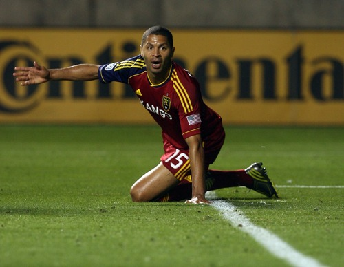 Kim Raff | The Salt Lake Tribune Real Salt Lake forward Alvaro Saborio is healthy to start the season it made all the difference in RSL's season opener against San Jose. Saborio scored two  goals against the Quakes.