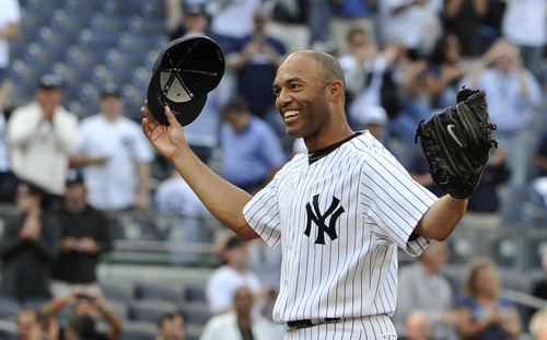 New York Yankees closer Mariano Rivera made his retirement official Saturday at the team's spring training facility in Tampa, Fla. (AP Photo/Kathy Kmonicek, File)