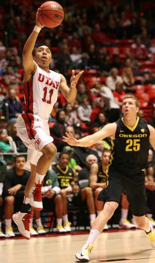 Leah Hogsten     The Salt Lake Tribune Utah Utes guard Brandon Taylor (11)had 14 points.  University of Utah defeated Oregon 72-62  Saturday, March 9, 2013 at the Jon M. Huntsman Center.