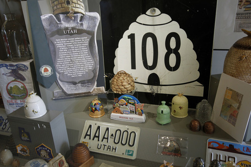 Al Hartmann     The Salt Lake Tribune The Utah State Capitol's upcoming 100th anniversary is being celebrated with new displays. A display case in the basement examines the meaning of the state symbol, the beehive.