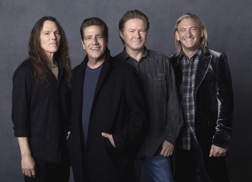 "Members of The Eagles - from left: Timothy B. Schmid, Glenn Frey, Don Henley and Joe Walsh - in the documentary ""History of the Eagles, Part One,"" which will screen at the Sundance London Film and Music Festival."