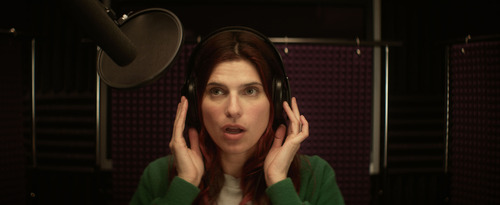 "Lake Bell play an aspiring voice-over artist in the comedy ""In a World...,"" which she also wrote and directed. It appeared in the U.S. Dramatic competition at the 2013 Sundance Film Festival, where it won the Waldo Salt Screenwriting Award. It will screen at the Sundance London Film and Music Festival. Courtesy Sundance Institute"