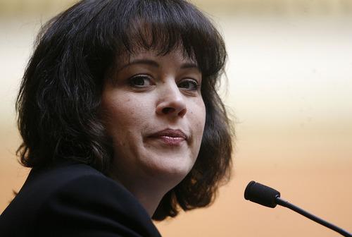 Scott Sommerdorf   |  The Salt Lake Tribune The Speaker of the House, Becky Lockhart, R-Provo, in the Utah House of Representatives, on Wednesday, February 6, 2013.