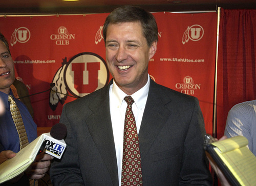 Paul Fraughton | The Salt Lake Tribune University of Utah athletics director Chris Hill is under fire amid allegations that he ignored complaints about swim coach Greg Winslow.