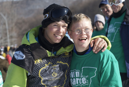 """Snowboarder Kevin Pearce with his brother, David, in an image from the documentary """"The Crash Reel,"""" premiering at the 2013 Sundance Film Festival. Courtesy Sundance Institute"""