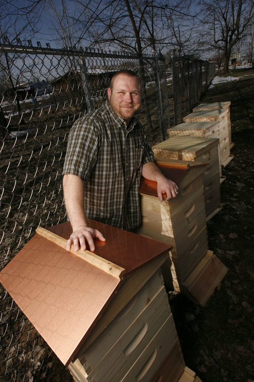 Francisco Kjolseth  |  The Salt Lake Tribune Kenny Olsen of West Haven Utah has been a network security IT guy for some time before turning to family farming. With the help of Kickstarter he has raised money for a new tiller and for six new beehives in hopes of expanding on the family side business.