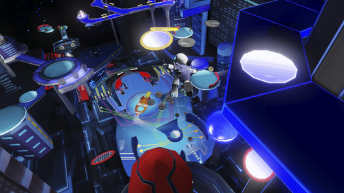 "Screen shot from ""Robot Pinball Escape,"" the first title published by the U.'s video game design graduate program in May 2012. Courtesy image"