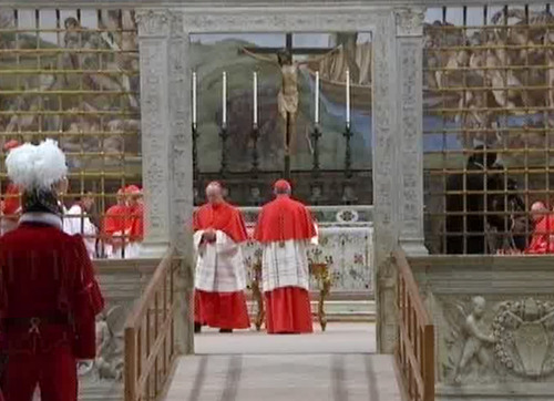 In this image taken from video provided by CTV, cardinals enter the Sistine Chapel in Vatican City for the conclave to elect the next pope Tuesday, March 12, 2013. (AP Photo/CTV)