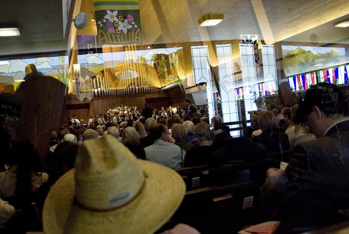 Djamila Grossman     The Salt Lake Tribune  People gather for the Easter Sunday Service at Christ United Methodist Church in Salt Lake City in 2011.
