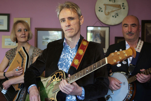 """Peter (center), shown here with his band, is one of the subjects of """"56 Up,"""" the latest in director Michael Apted's series of documentaries chronicling a disparate group of Brits every seven years. Courtesy First Run Features"""