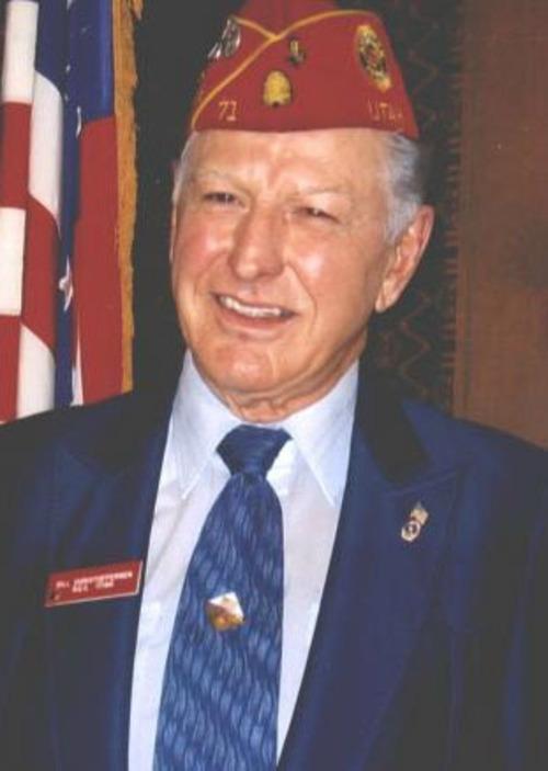"""Courtesy image William E. """"Bill"""" Christofferson, a World War II veteran and advocate for veterans."""