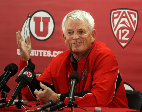 Rick Egan  | The Salt Lake Tribune   Dennis Erickson, Utah's new offensive co-coordinator is eager to begin spring practice with the Utes on Tuesday.