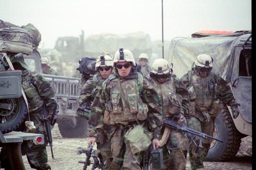 Marines from Fox Company, 2nd Battalion, 23rd Marines in Gharraf, Iraq.