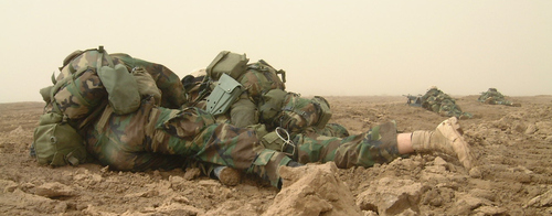 Fox Company during its first engagement outside Al Gharrif, Iraq.
